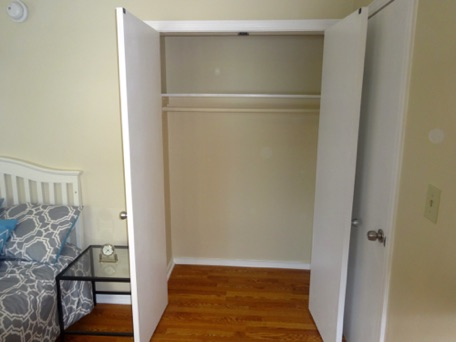 Here is the closet in one of our bedrooms.  Plenty of storage space...